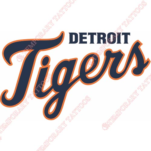 Detroit Tigers Customize Temporary Tattoos Stickers NO.1582