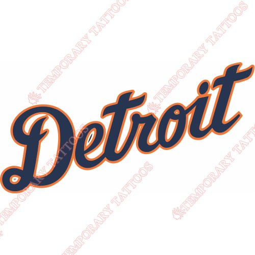 Detroit Tigers Customize Temporary Tattoos Stickers NO.1583