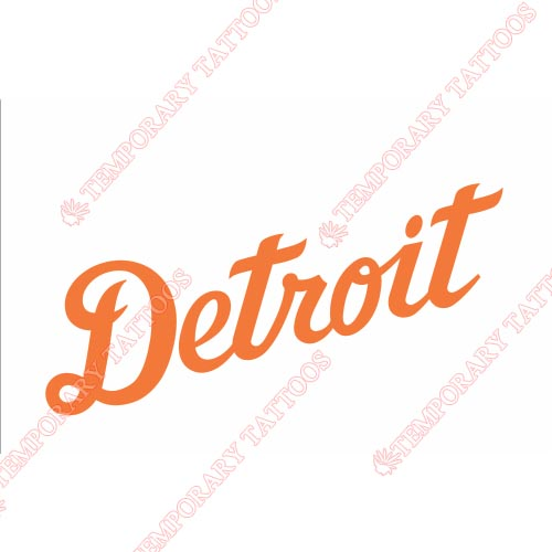 Detroit Tigers Customize Temporary Tattoos Stickers NO.1584