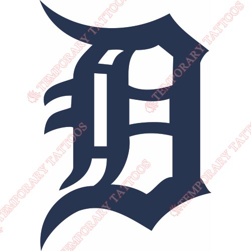 Detroit Tigers Customize Temporary Tattoos Stickers NO.1585