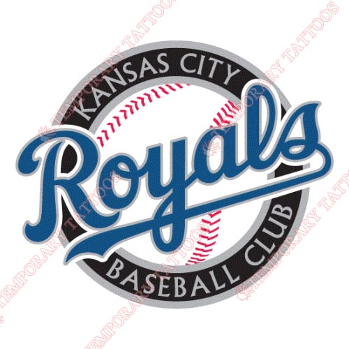 Kansas City Royals Customize Temporary Tattoos Stickers NO.1617