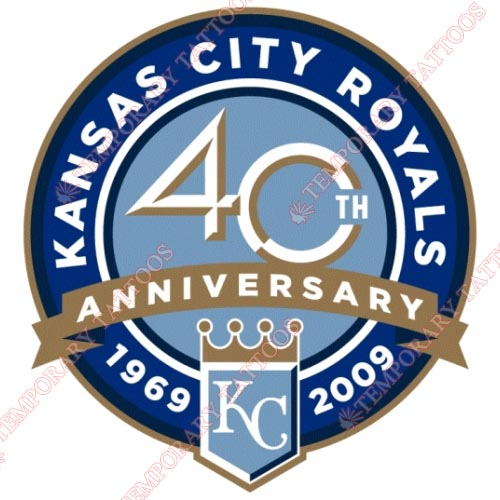 Kansas City Royals Customize Temporary Tattoos Stickers NO.1621
