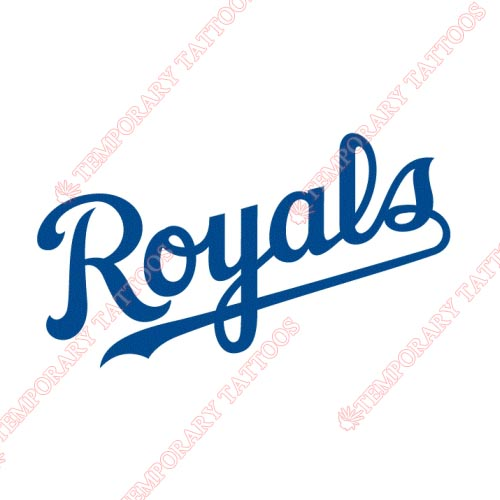 Kansas City Royals Customize Temporary Tattoos Stickers NO.1623