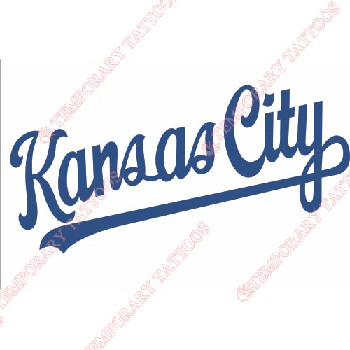 Kansas City Royals Customize Temporary Tattoos Stickers NO.1624