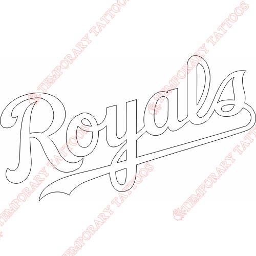 Kansas City Royals Customize Temporary Tattoos Stickers NO.1625
