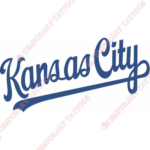 Kansas City Royals Customize Temporary Tattoos Stickers NO.1626