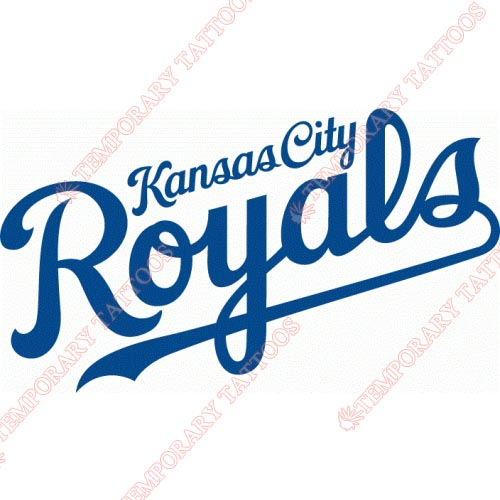 Kansas City Royals Customize Temporary Tattoos Stickers NO.1628