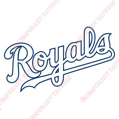 Kansas City Royals Customize Temporary Tattoos Stickers NO.1629