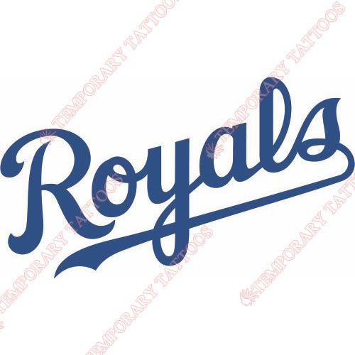 Kansas City Royals Customize Temporary Tattoos Stickers NO.1630