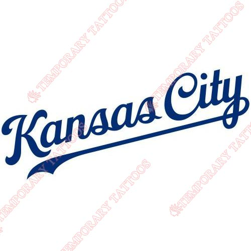 Kansas City Royals Customize Temporary Tattoos Stickers NO.1631