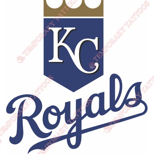 Kansas City Royals Customize Temporary Tattoos Stickers NO.1632