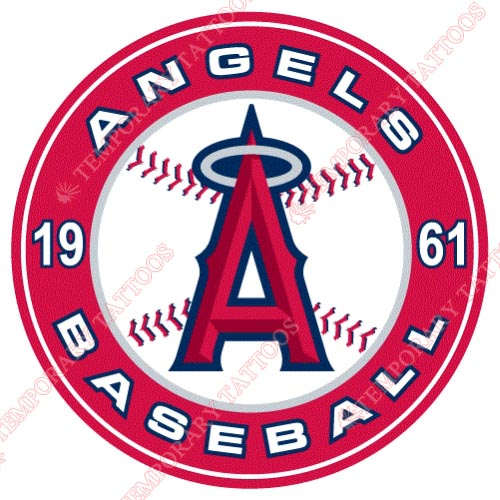 Los Angeles Angels of Anaheim Customize Temporary Tattoos Stickers NO.1637