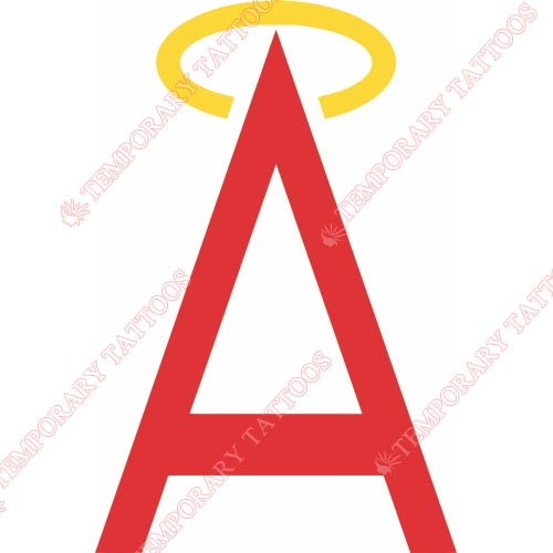 Los Angeles Angels of Anaheim Customize Temporary Tattoos Stickers NO.1640