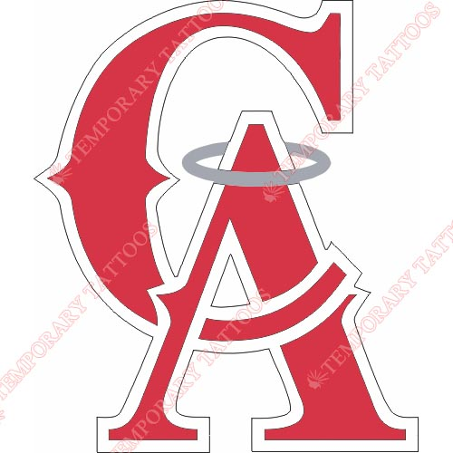 Los Angeles Angels of Anaheim Customize Temporary Tattoos Stickers NO.1641