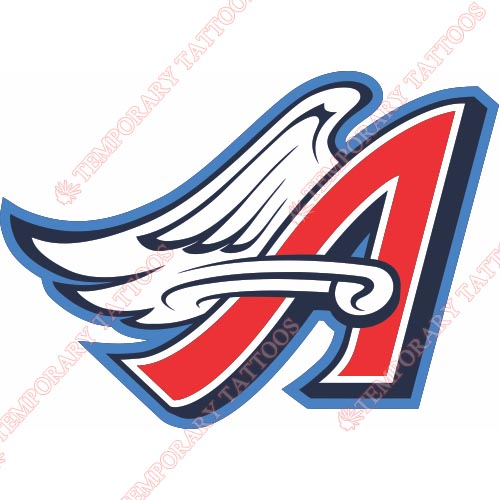 Los Angeles Angels of Anaheim Customize Temporary Tattoos Stickers NO.1642