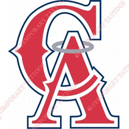 Los Angeles Angels of Anaheim Customize Temporary Tattoos Stickers NO.1651