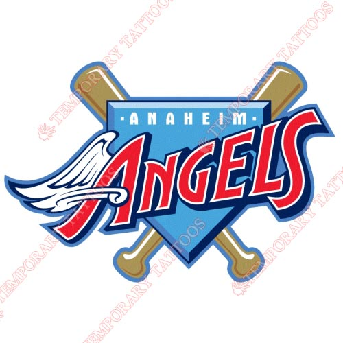 Los Angeles Angels of Anaheim Customize Temporary Tattoos Stickers NO.1652