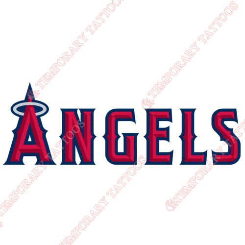 Los Angeles Angels of Anaheim Customize Temporary Tattoos Stickers NO.1654