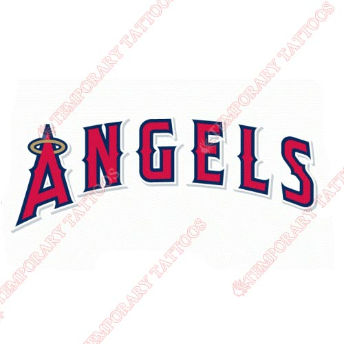 Los Angeles Angels of Anaheim Customize Temporary Tattoos Stickers NO.1655