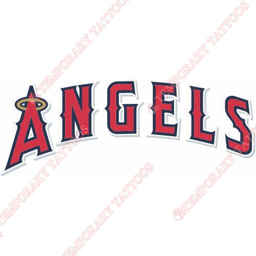 Los Angeles Angels of Anaheim Customize Temporary Tattoos Stickers NO.1656