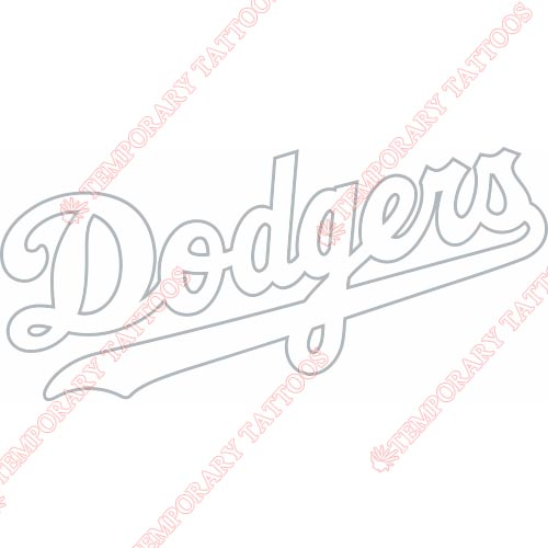 Los Angeles Dodgers Customize Temporary Tattoos Stickers NO.1658