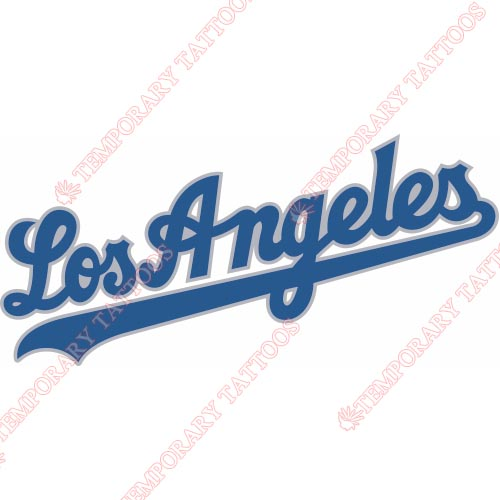 Los Angeles Dodgers Customize Temporary Tattoos Stickers NO.1659