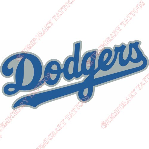 Los Angeles Dodgers Customize Temporary Tattoos Stickers NO.1660