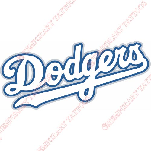 Los Angeles Dodgers Customize Temporary Tattoos Stickers NO.1661