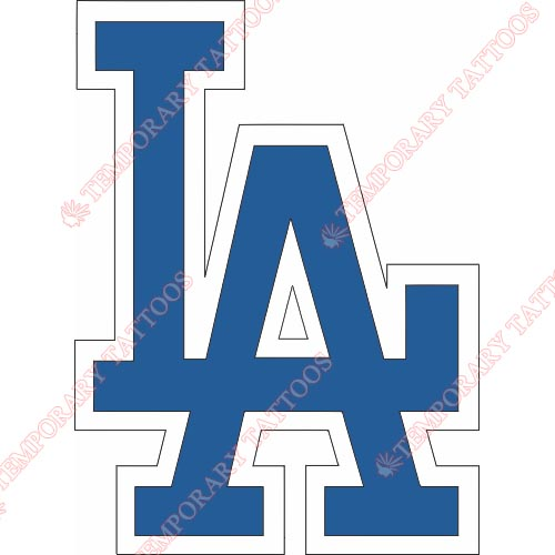 Los Angeles Dodgers Customize Temporary Tattoos Stickers NO.1663