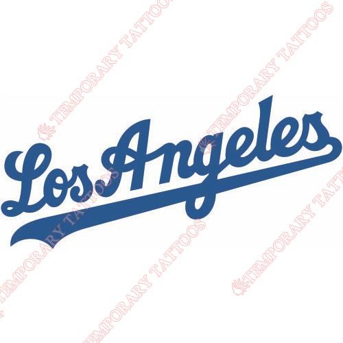 Los Angeles Dodgers Customize Temporary Tattoos Stickers NO.1664