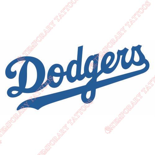 Los Angeles Dodgers Customize Temporary Tattoos Stickers NO.1665