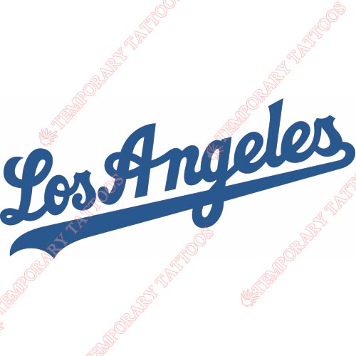 Los Angeles Dodgers Customize Temporary Tattoos Stickers NO.1666