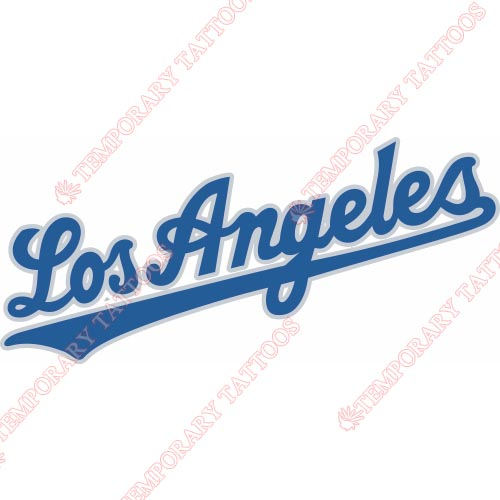 Los Angeles Dodgers Customize Temporary Tattoos Stickers NO.1667
