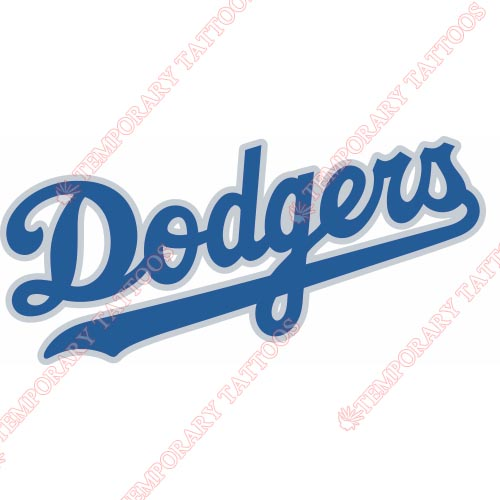 Los Angeles Dodgers Customize Temporary Tattoos Stickers NO.1668
