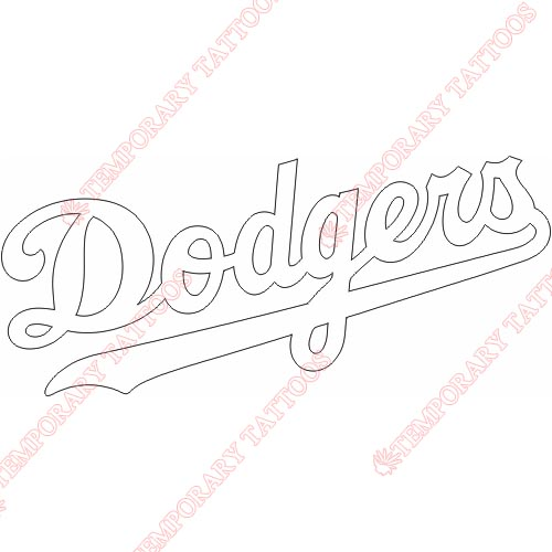 Los Angeles Dodgers Customize Temporary Tattoos Stickers NO.1669