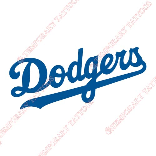 Los Angeles Dodgers Customize Temporary Tattoos Stickers NO.1670