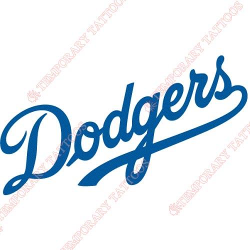 Los Angeles Dodgers Customize Temporary Tattoos Stickers NO.1671