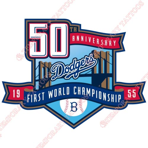 Los Angeles Dodgers Customize Temporary Tattoos Stickers NO.1672