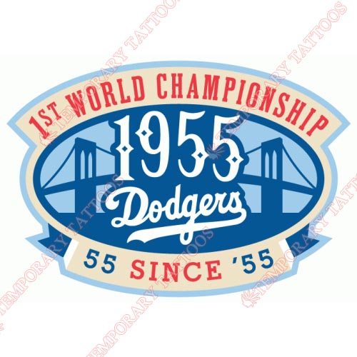 Los Angeles Dodgers Customize Temporary Tattoos Stickers NO.1673