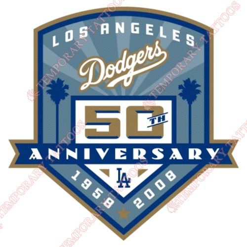 Los Angeles Dodgers Customize Temporary Tattoos Stickers NO.1674