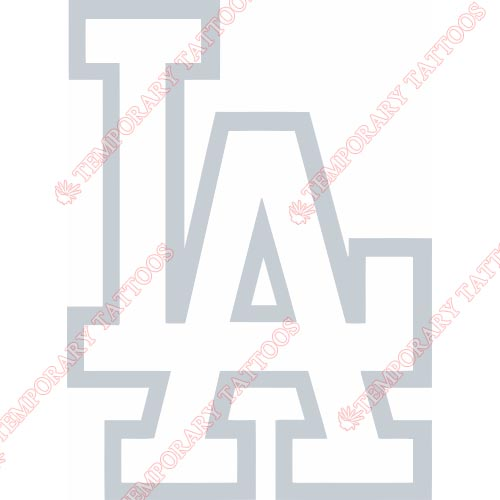 Los Angeles Dodgers Customize Temporary Tattoos Stickers NO.1676