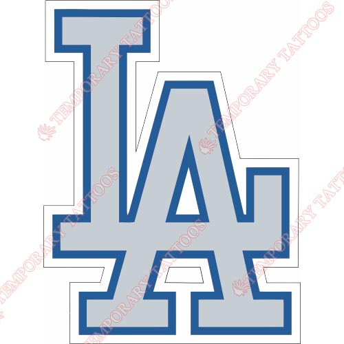 Los Angeles Dodgers Customize Temporary Tattoos Stickers NO.1677