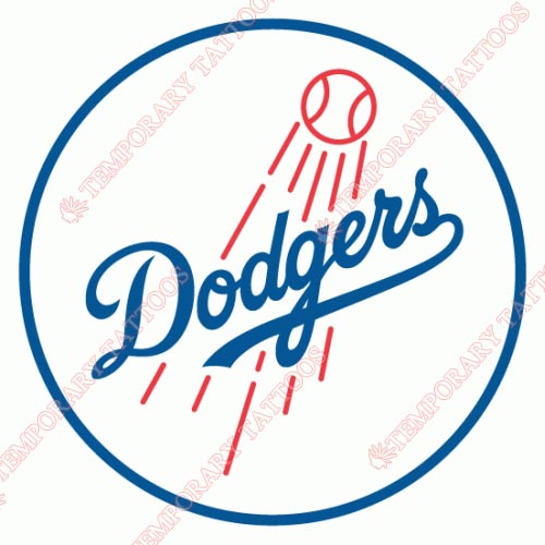 Los Angeles Dodgers Customize Temporary Tattoos Stickers NO.1679