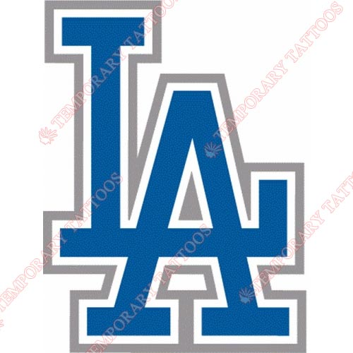 Los Angeles Dodgers Customize Temporary Tattoos Stickers NO.1680
