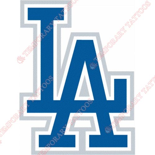 Los Angeles Dodgers Customize Temporary Tattoos Stickers NO.1681
