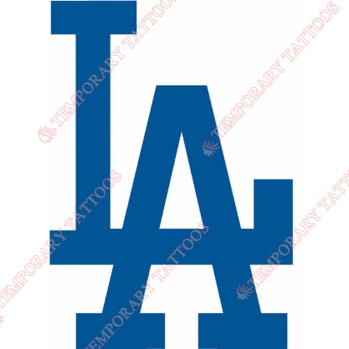 Los Angeles Dodgers Customize Temporary Tattoos Stickers NO.1682