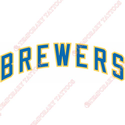 Milwaukee Brewers Customize Temporary Tattoos Stickers NO.1701