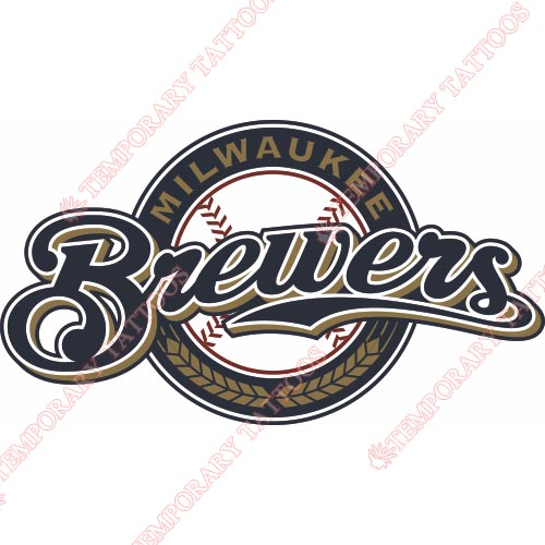 Milwaukee Brewers Customize Temporary Tattoos Stickers NO.1702