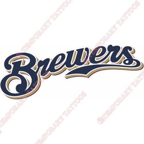 Milwaukee Brewers Customize Temporary Tattoos Stickers NO.1704