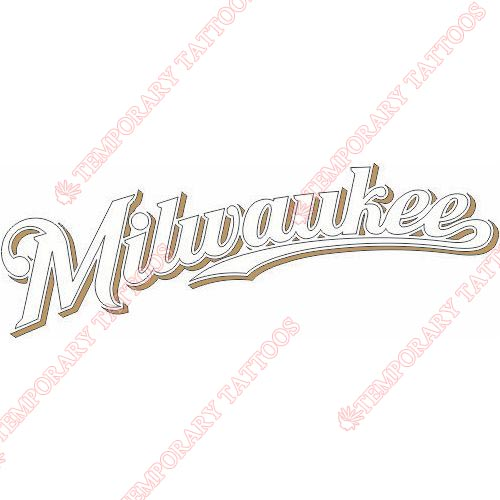 Milwaukee Brewers Customize Temporary Tattoos Stickers NO.1705